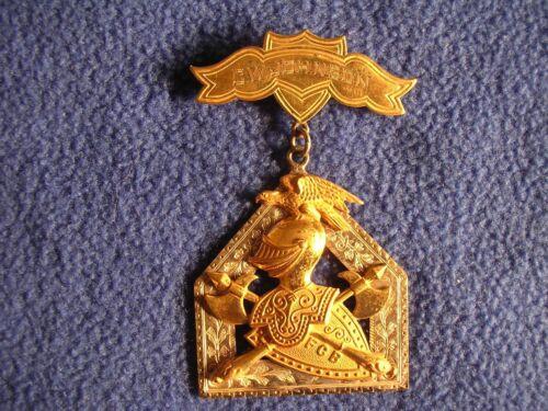 Vintage Knights Of Pythias Jewel FCB C W Johnson Lodge 526 Star