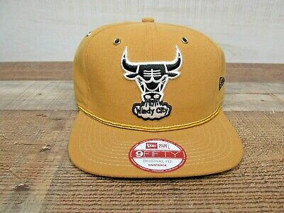 Chicago Bulls Windy City New Era 9Fifty Hat Snapback Brown