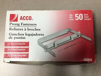Standard Two-piece Paper File Fasteners 2 Capacity 2 34 Center 50box