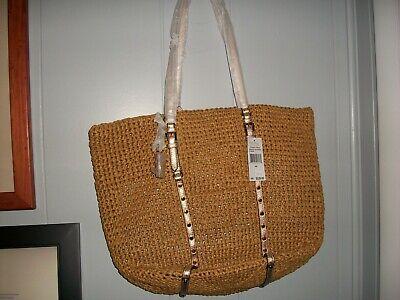 Michael Kors Large Shopper Bag, Studded Straw, NWT