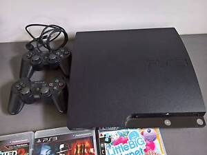 PlayStation 3 Slim, 2 controllers, 5 games & accessories Elwood Port Phillip Preview