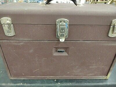 Starrett - Kennedy Red Brown Machinist Metal  Tool Chest Box