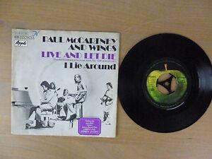 Paul McCartney and wings - live and let die, D'73, 7'' Single, Vinyl: vg+
