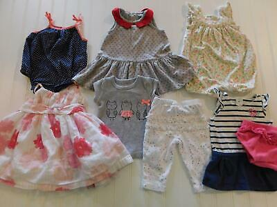 Girl 0-3 Month Baby Gap Carters Old Navy Summer Rompers Dress Outfit Clothes Lot