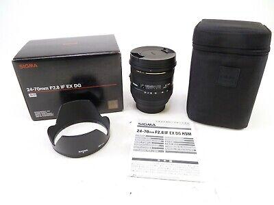 Sigma 24-70mm F/2.8 IF EX DG HSM Lens for Sony A-Mount w/ Box, Case, Caps, & EC., usado segunda mano  Embacar hacia Argentina