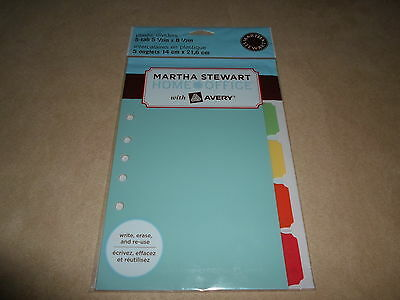 Martha Stewart Home Office 5 Tab Plastic Dividers5 12 X 8 12new In Package