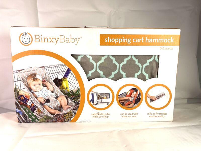 Binxy Baby Shopping Cart Hammock Indigo Gray Aqua 🛒👶🏻🛒