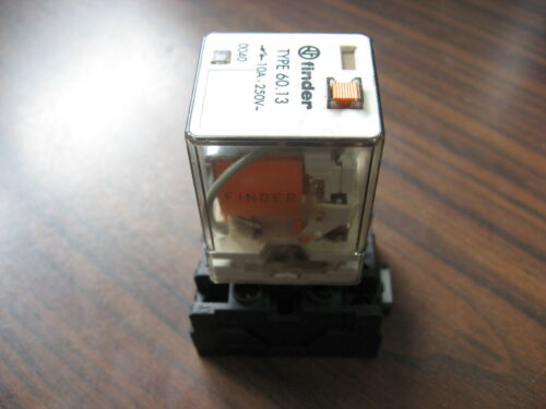 Finder 60.13 Cube Relay With Base  (11 Pin Round, 120 VAC Coil )