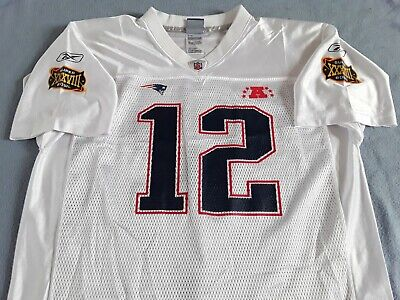 "New England Patriots "" Brady #12 "" NFL SB38 Jersey - Youth XL / Adult Small"