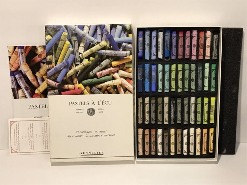 NEW Open Sennelier Soft Pastels Box Set of 48 Standard Floral Collection Unused