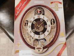 Seiko Melodies in Motion Wall Clock, QXM160BRH, Musical Motion Beatles Clock