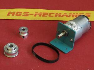 Bausatz Getriebemotor 12 Volt mit Riemenantrieb für z.B. Bau einer Seilwinde