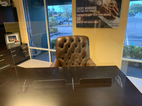 SNEEZE GUARD Acrylic Plexiglass Table Desk Checkout counter Shield $69.99-$84.99