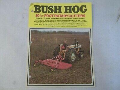 Bush Hog Models 126 1226 10.5 Rotary Cutters Brochure