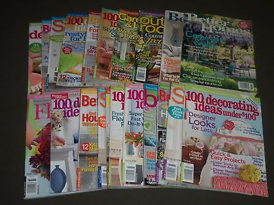 2007-2009 BETTER HOME AND GARDEN SPECIAL INTEREST MAGAZINES LOT OF 21 - PB