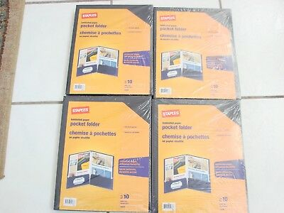 Staples Laminated Paper Pocket Folders Lot Of 410 Letter Size 100 Sheet 40
