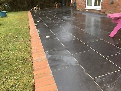 Black Slate Paving✔Patio Slabs Garden✔60 cm x 40 cm 15-20 mm thick✔FREE✔DELIVERY ()