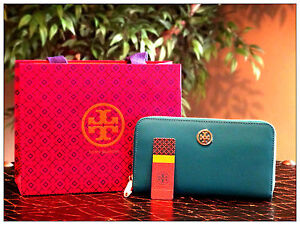 NWT Tory Burch Robinson Zip Continental Electric Eel Zip Around Wallet