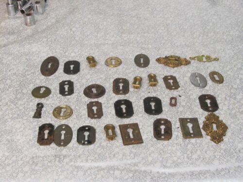 Lot 31 Vintage  Lock Escutcheon Brass  Key Hole Covers