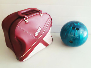EBONITE BOWLING BALL WITH BRUNSWICK BAG