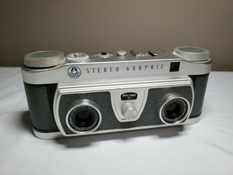 Vintage Graflex Stereo Graphic 3D Camera - TESTED!