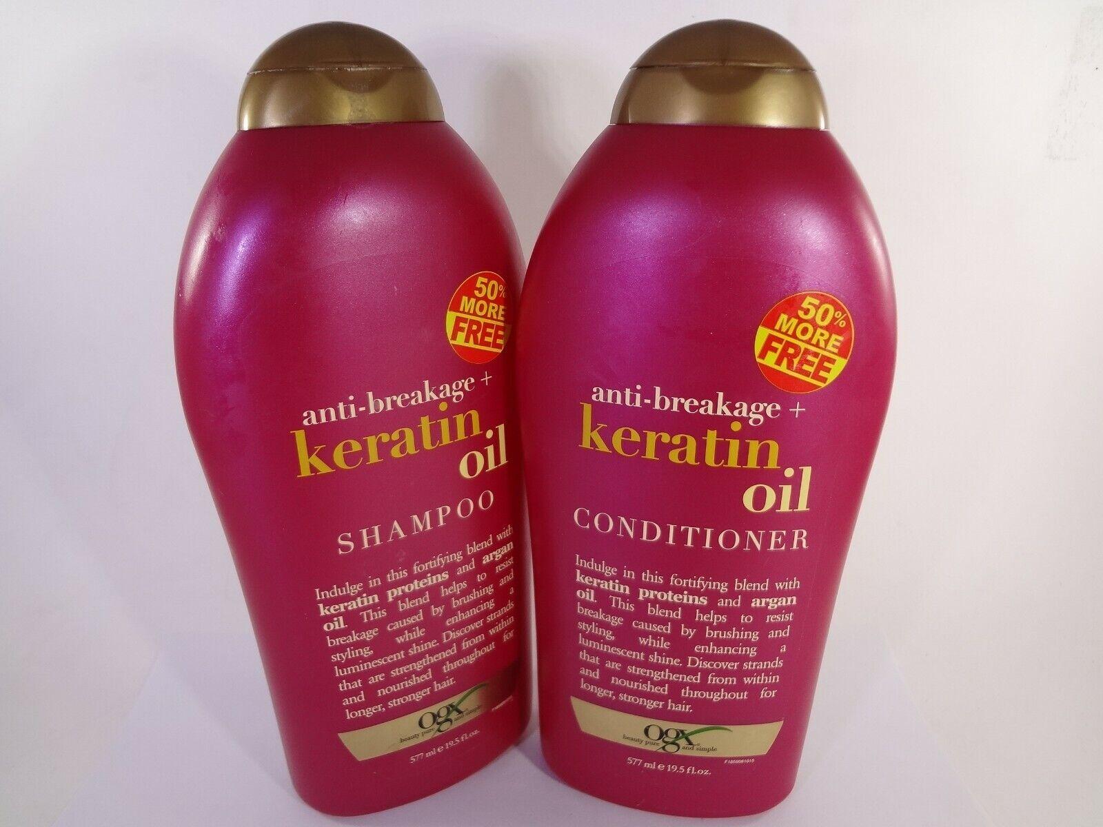anti breakage keratin oil shampoo and conditioner