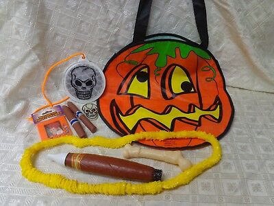 Halloween decorations and props LOT OF 9 photo frame, accessories, bag  (Halloween Decorations And Props)