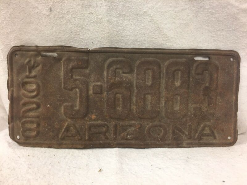 Vintage 1928 Arizona License Plate