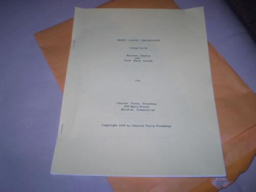 Terry Clock Chronology booklet