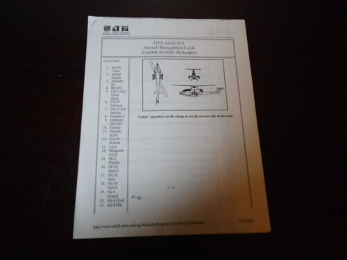 US Military Combat Aircraft Helicopter Recognition Graphic Training 2003 0-38