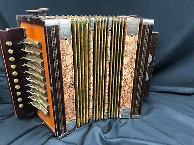 Antique Project M. Hohner Best Made Wood Accordeon Accordion Squeeze Box Germany