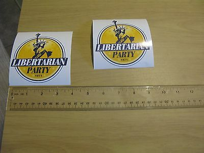 Lot of 3 Libertarian Logo Stickers -decals statue liberty 1971