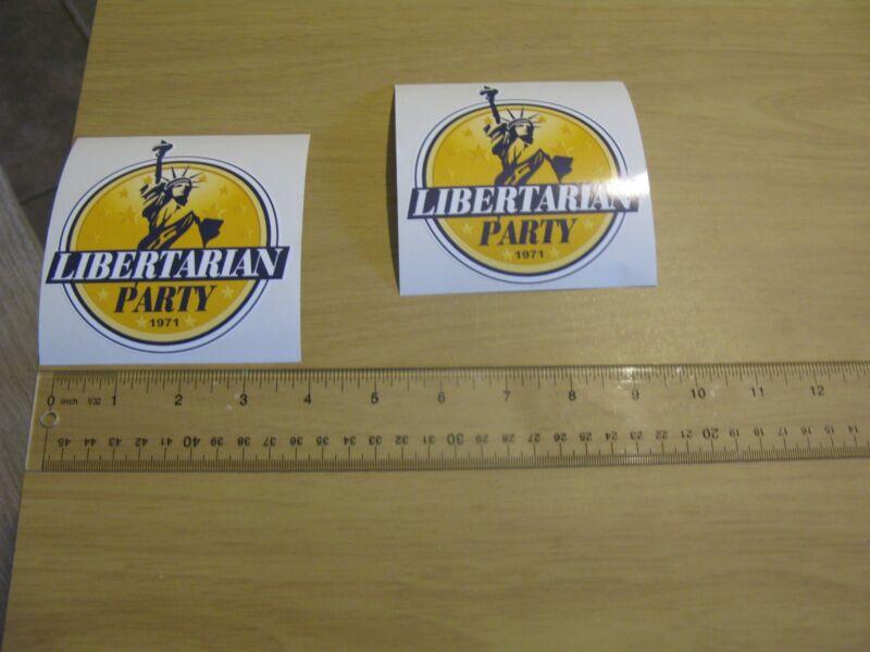 Libertarian Logo Sticker -decal statue liberty 1971 new