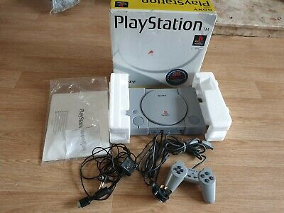 Sony Playstation 1 Console, Boxed, Tested, With Leads & Official Controller