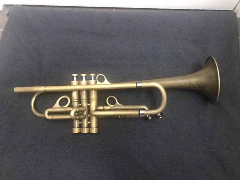 Bb Harrelson Bravura Custom trumpet - 1 tuning slide - Raw Brass.