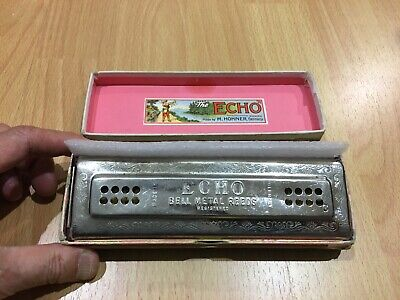 Hohner Echo Harp 56/96 Key C+G Double Side Tremolo Harmonica detail cleaned  $45 for sale  Irvine