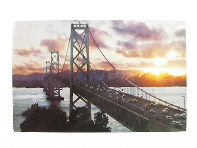 VTG San Francisco Oakland Bay Bridge Golden Gate California USA Postcard Old for sale  Finland