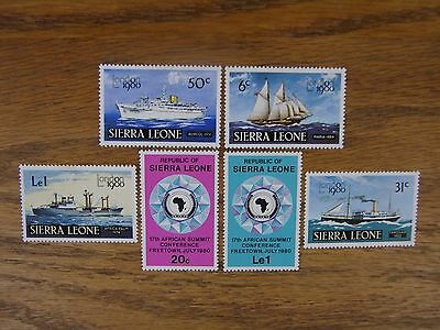 SIERRA LEONE - SET OF 6 - 1980