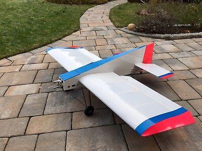 RC Verbrenner Modellflugzeug / 3D Kunstflieger + Koffer f. Rumpf & Tragflächen (3d Flugzeug)