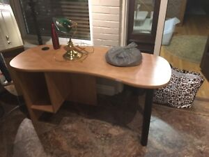 Wooden and metal desk