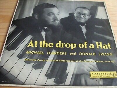 """FLANDERS & SWANN - At The Drop Of A Hat - 12"""" LP Vinyl - used"""