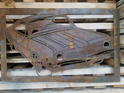 Hk 1969 holden laser steel cutout