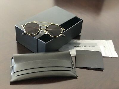 GENTLE MONSTER Clip On Sunglasses with Gold Clip