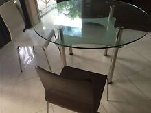 Nick Scali Glass Round Table - NEED GONE Coombabah Gold Coast North Preview