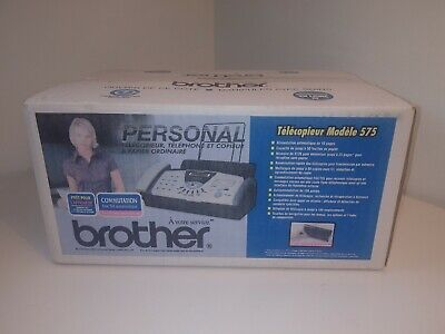 Brother Fax-575 Personal Plain Paper Fax Phone And Copier - New Never Opened Box