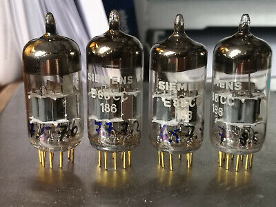 E88CC 6dj8 ecc88 Siemens Halske gold pins tubes  4 pcs. b for sale  Shipping to South Africa