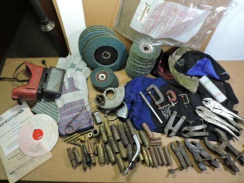 Huge Welding Lot, Tweco Nozzles, Clamps, Flap Disc,Welding Sleeves, Caps, Gloves
