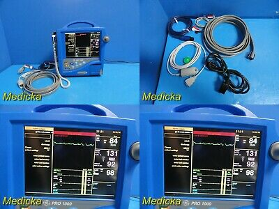 Ge Dinamap Pro 1000 Patient Monitor W Spo2ecg Nbp Leads Thermometer 21420