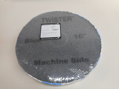 16 Twister Blue Daily Cleaning Floor Pads For Floor Scrubber Diamond Pad
