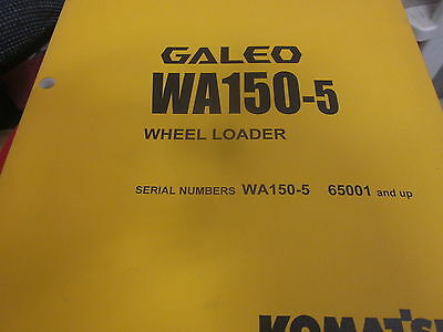 Komatsu Wa150l-5 Wheel Loader Operation Maintenance Manual Sn 65001 Up